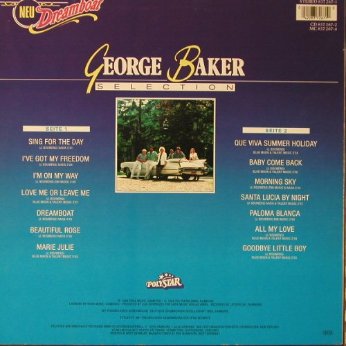 Baker,George Selection: Dreamboat, Polyst.(837 267-1), D, 1988 - LP - F1057 - 3,00 Euro