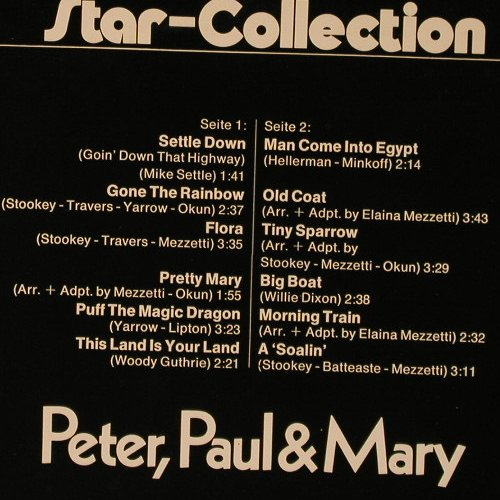 Peter,Paul & Mary: Star-Collection, MIDI(MID 26 001), D,  - LP - F1672 - 5,00 Euro