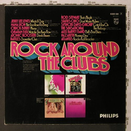V.A.Rock Around The Clubs: Jerry Lee Lewis...Atlantis, Philips(6300 081), D,  - LP - F1897 - 5,00 Euro