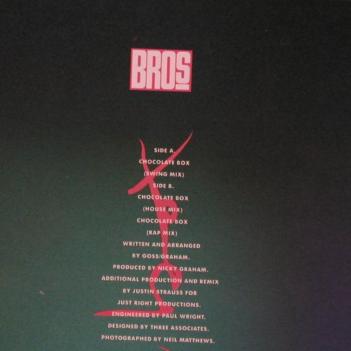 Bros: Chocolate Box(Swing Mix)*3, CBS(655332 6), NL, 1989 - 12inch - F1902 - 4,00 Euro