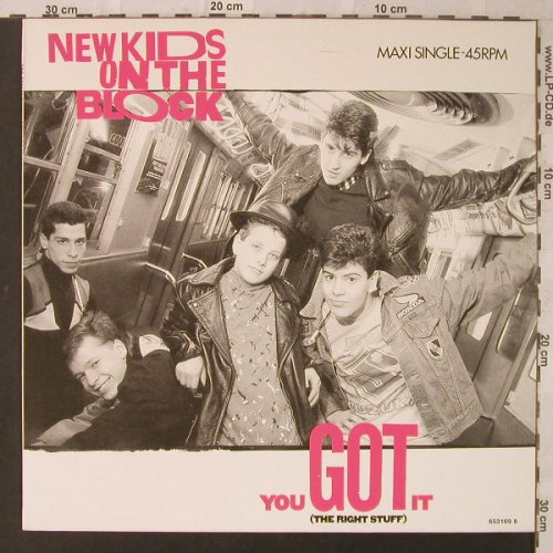New Kids On The Block: You Got It (The Right Stuff)*3, CBS(653169 6), NL, 1988 - 12inch - F1918 - 4,00 Euro