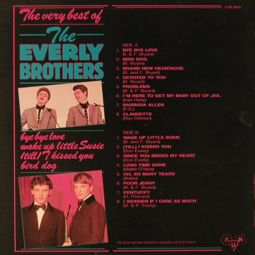 Everly Brothers: The Very Best Of, FUN(9024), B,  - LP - F1922 - 5,00 Euro