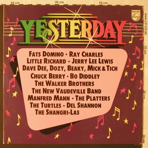 V.A.Yesterday: Fats Domino,Ray Charles...,24Tr.Foc, Philips(6612 113), D,  - 2LP - F282 - 6,00 Euro