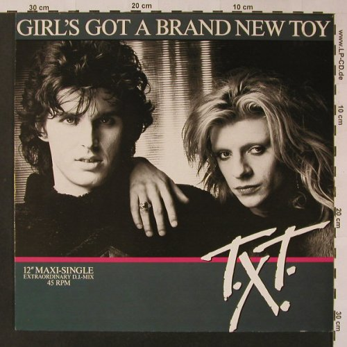 T.X.T.: Girl's Got A Brand New Toy+1, CBS(A 12.6073), NL, 1985 - 12inch - F3344 - 2,50 Euro