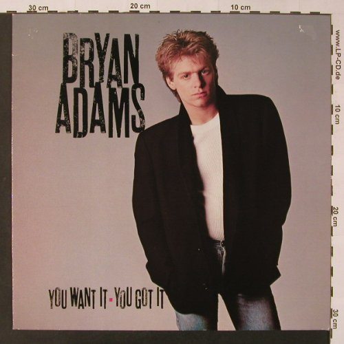 Adams,Bryan: You Want It,You Got It, AM(393 154-1), D, 1981 - LP - F3368 - 6,00 Euro