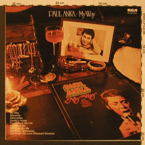 Anka,Paul: My Way, Warenprobe, RCA Intern.(26.21423 AG), D, 1974 - LP - F3977 - 6,00 Euro