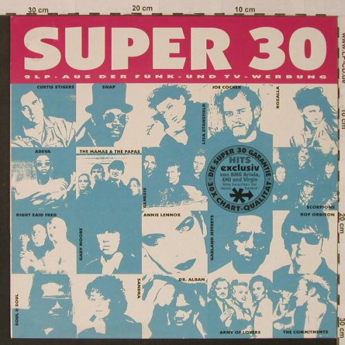 V.A.Super 30: Curtis Stiger...Right Said Fred, Ariola(74321100561), D, 1992 - 2LP - F4211 - 6,00 Euro