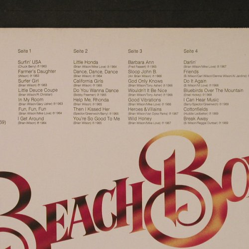 Beach Boys: The Very Best Of-Anthology 63-69,Ri, Capitol(15 7671 3), D,Foc,  - 2LP - F4450 - 6,50 Euro
