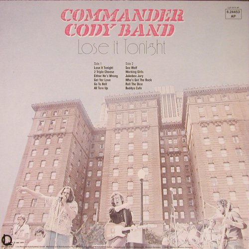 Commander Cody Band: Lose It Tonight, Line(6.24453 AP), D, 1980 - LP - F448 - 4,00 Euro
