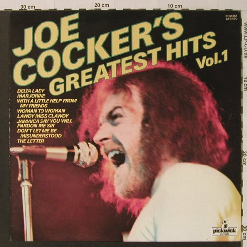 Cocker,Joe: Greatest Hits Vol.1, Pickwick(SHM 954), UK,  - LP - F4561 - 5,00 Euro