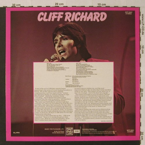 Richard,Cliff: Live!, Music For Pleasure(MFP 50307), UK, 1972 - LP - F4585 - 5,00 Euro