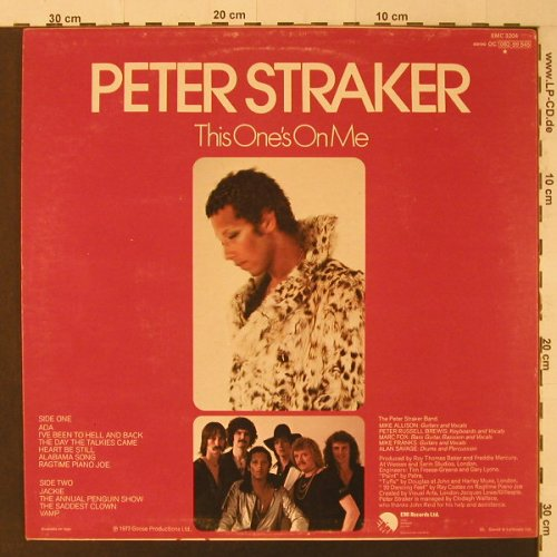 Straker,Peter: This One's On Me, EMI(EMC 3204), D, 1979 - LP - F4679 - 5,00 Euro
