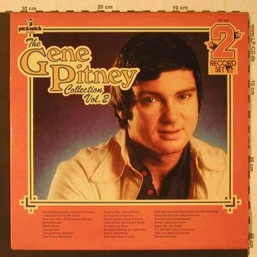 Pitney,Gene: The G.P.Collection Vol.2, Foc, Pickwick(PDA 034), UK,  - 2LP - F4717 - 7,50 Euro