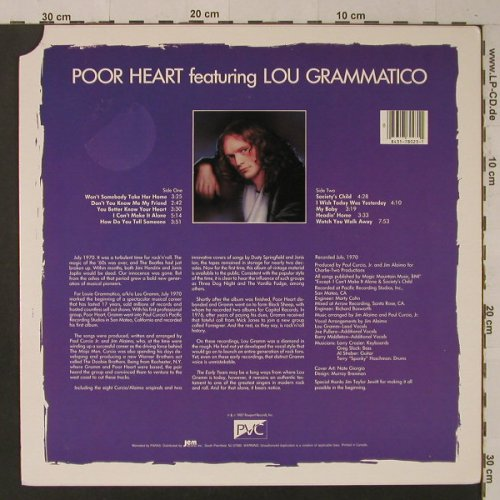 Poor Heart Feat.Lou Grammatico: Same(70), Passport(PVC 5912), US, 1987 - LP - F5319 - 6,00 Euro