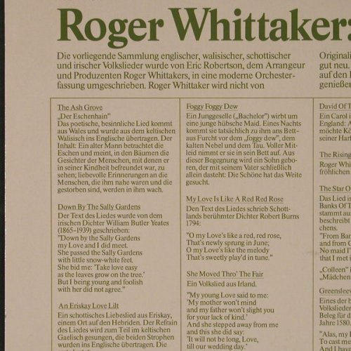 Whittaker,Roger: Folk Songs, Metronome(0069.901), D,  - LP - F5427 - 5,00 Euro