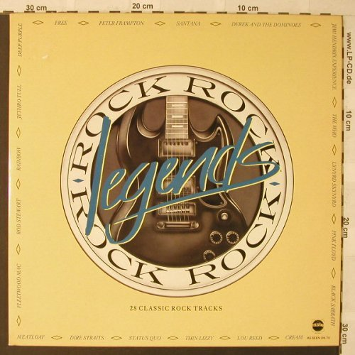 V.A.Rock Legends: 28 Tr., Foc, Telstar(STAR 2290), UK, 1986 - 2LP - F543 - 7,50 Euro