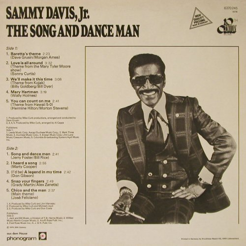 Davis Jr.,Sammy: The Song and Dance Man, 20th Century Fox(6370 245), D, 1976 - LP - F5442 - 5,50 Euro