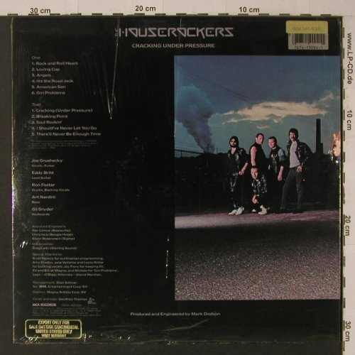 Houserockers,The: Cracking Under Pressure, FS-New, MCA(39004), US, 1983 - LP - F5470 - 9,00 Euro