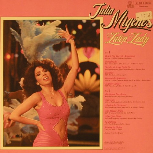 Migenes,Julia: Latin Lady, Club Edition, Ariola(31 879), D, 1980 - LP - F5540 - 5,00 Euro