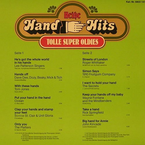 V.A.Heiße Hand Hits: Tolle Super Oldies, m-/vg+, Kamill Phonoclub(6803 141), D,  - LP - F5798 - 3,00 Euro