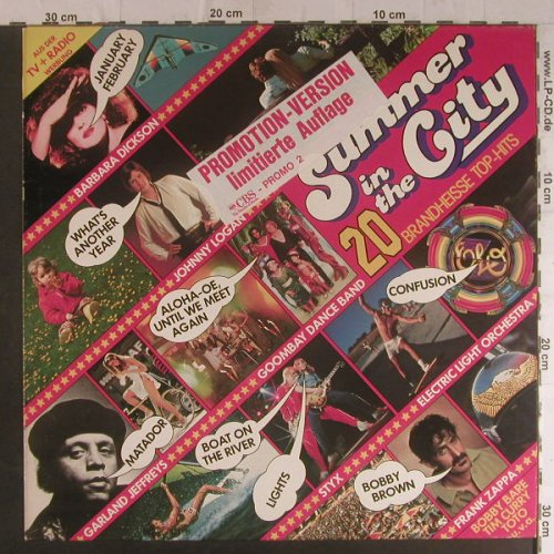 V.A.Summer in the City: 20 Brandheisse Top Hits, Promo 2, CBS(CBS 84 541), D, Lim Ed, 1980 - LP - F5931 - 5,00 Euro