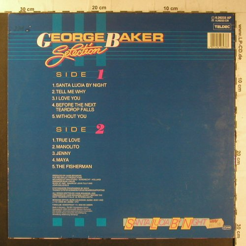 Baker Selection,George: Santa Lucia By Night,Muster, Teldec(6.26233 AP), D,  - LP - F6629 - 5,00 Euro
