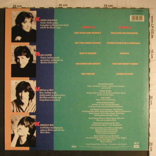 Katrina & The Waves: Same, Capitol(24 0315 1), D, 1985 - LP - F7198 - 5,00 Euro