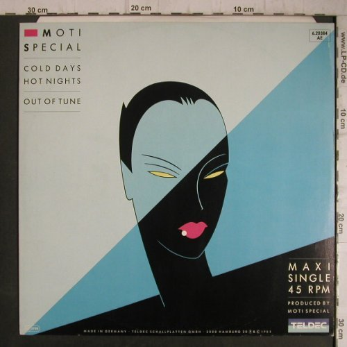Moti Special: Cold Days Hot Nights+1,Yellow vinyl, Teldec(6.20384 AE), D, 1985 - 12inch - F7332 - 2,50 Euro
