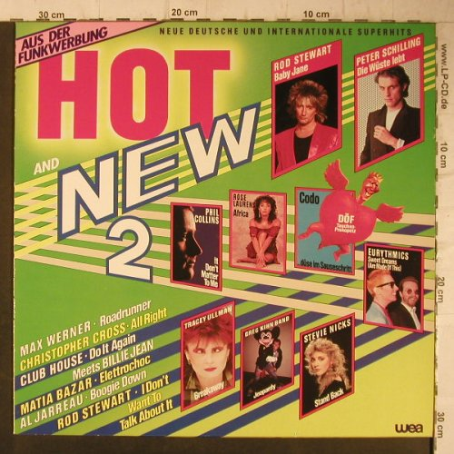 V.A.Hot and New 2: Rod Stewart, G.Kihn, Eurithmics.., WEA(24-0226-1), D, 1983 - LP - F7869 - 4,00 Euro