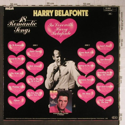 Belafonte,Harry: In Love With, RCA Victor(PL 45317), D, Ri, 1982 - LP - F7889 - 5,00 Euro