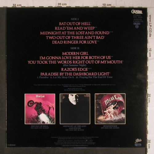 Meat Loaf: Hits Out Of Hell, Epic(EPC 26156), NL, 1984 - LP - F7891 - 5,00 Euro
