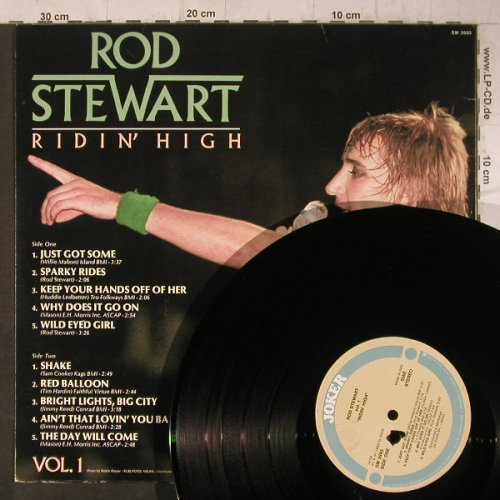 Stewart,Rod: Ridin' High, Vol.1(Labe Center ?), Joker(SM 3985), I, 1982 - LP - F7920 - 4,00 Euro