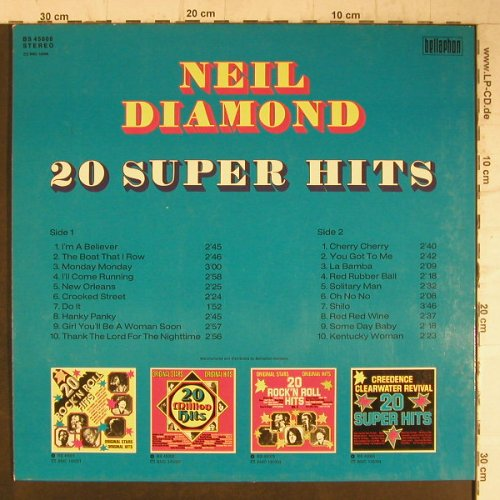 Diamond,Neil: 20 Super Hits, Bellaphon(BS 45006), D,  - LP - F7922 - 4,00 Euro