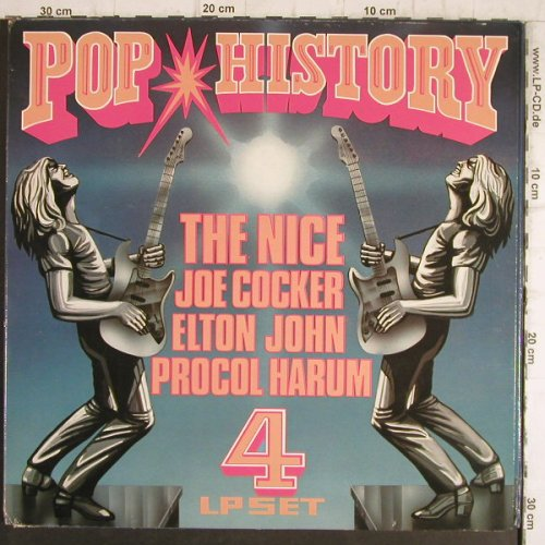 V.A.Pop History: Nice,Cocker,E.John,Procol Harum, Pickwick(R 10004), UK,  - 4LP - F8462 - 7,50 Euro