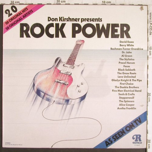 V.A.Rock Power: Don Kirshner presents, co, Ronco(P-12417), US, 1974 - LP - F8469 - 4,00 Euro