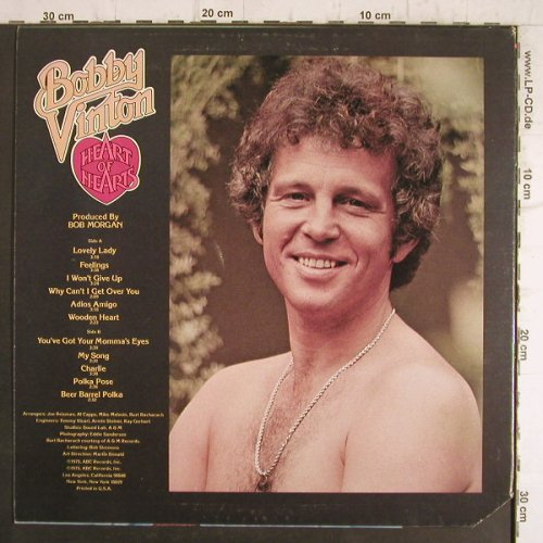 Vinton,Bobby: Heart of Hearts, ABC(ABCD-891), US, CO, 1975 - LP - F8481 - 5,00 Euro