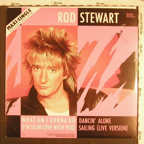 Stewart,Rod: What Am I Gonna Do...+1, Lim.Ed, WB(92-0134-0), D, 1983 - 12inch - F8504 - 5,00 Euro
