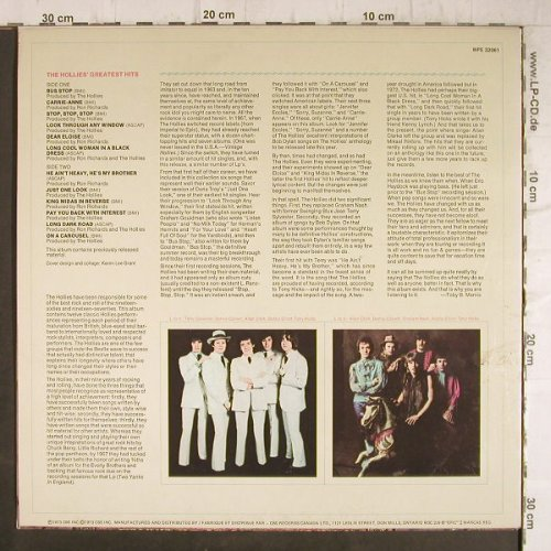 Hollies: Greatest Hits, vg+/m-, Epic(WPE 32061), US, 1973 - LP - F8755 - 5,00 Euro