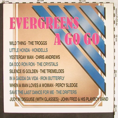 V.A.Evergreens A Go-Go: Casey Jones...Tommy Roe,m-/vg+, Bellaphon(230 07 072), D, 1987 - LP - F9512 - 3,00 Euro