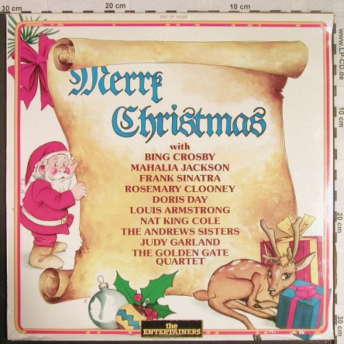 V.A.Merry Christmas with: Bing Crosby...Golden Gate Quartet, Entertainers(ENT LP 13.033), I, FS-New, 1987 - LP - H1082 - 6,00 Euro