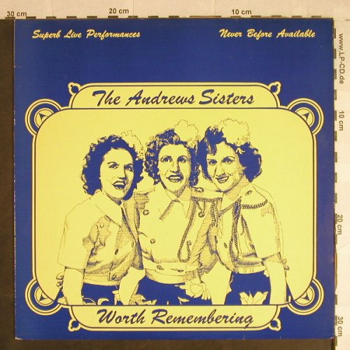 Andrews Sisters: Worth Remembering - Live, Magic(AWE 4), UK,  - LP - H1105 - 6,00 Euro