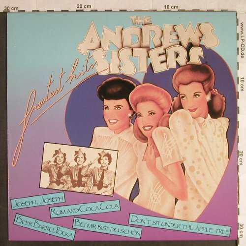 Andrews Sisters: Greatest Hits, FUN(FUN 9004), B,  - LP - H1106 - 4,00 Euro