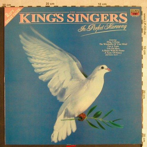 King's Singers: In Perfect Harmony, m-/vg+, EMI / MFP(DL 41 1082 3), UK, 1986 - 2LP - H1359 - 7,50 Euro