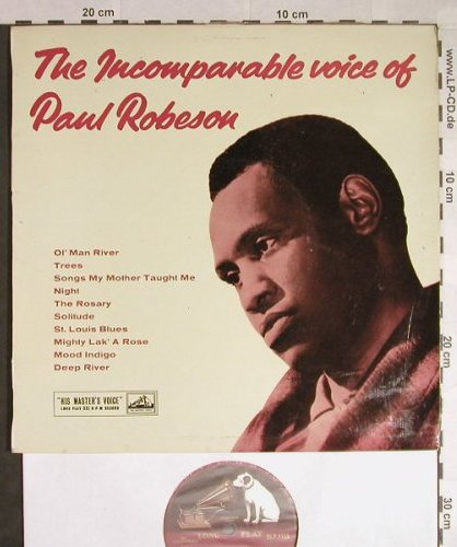 Robeson,Paul: The Incomparabel Voice Of, His Masters Voice(DLP 1155), UK,  - 10inch - H138 - 6,00 Euro