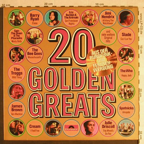 V.A.20 Golden Greats: Sam the Sham...Golden Earing, Polydor(2475 601), D,  - LP - H1413 - 4,00 Euro