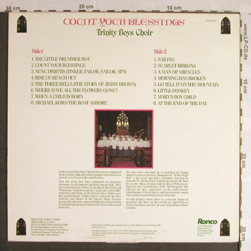 Trinity Boy Choir: Count Your Blessings, m-/vg+, Ronco(RTLO 2064), F, 1981 - LP - H1492 - 5,00 Euro