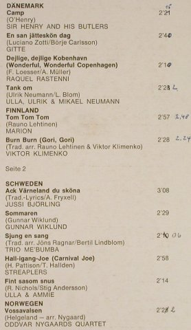 V.A.Holiday In Scandinavia: Camp,Gitte,R.Raastenni,V.Klimenko.., EMI Columbia(C 052-30 174), D, co, woc,  - LP - H1524 - 6,00 Euro