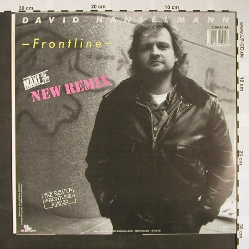 Hanselmann,David: Frontline*2 new rmx,greenClearVinyl, Big Mouth(6.20425 AE), D, 1985 - 12inch - H1587 - 2,00 Euro