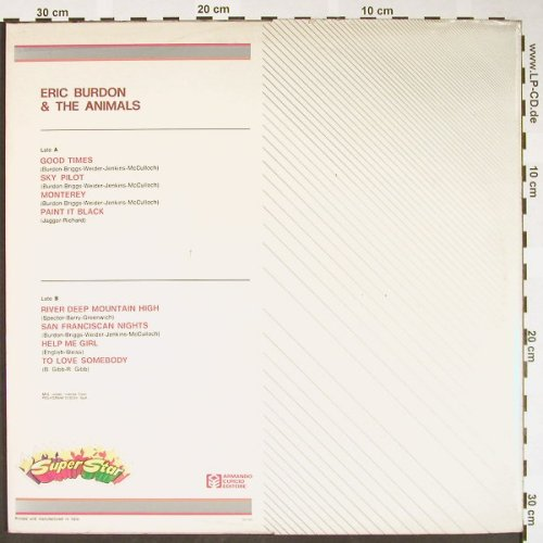 Burdon,Eric & Amimals: Same, Foc Booklet, SuperStar(SU-1022), I, Ri,  - LP - H1592 - 6,00 Euro