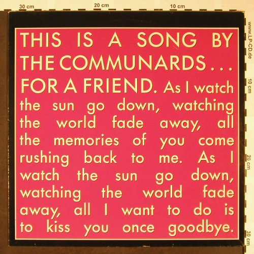 Communards: For a Friend +3, Metronome(886 271-1), D, 1988 - 12inch - H1641 - 2,00 Euro